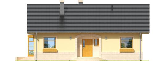 Erin - Projekty domów ARCHIPELAG - Erin - elewacja frontowa