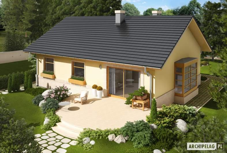 Projekt domu Erin - Projekty domów ARCHIPELAG - Erin - widok z góry