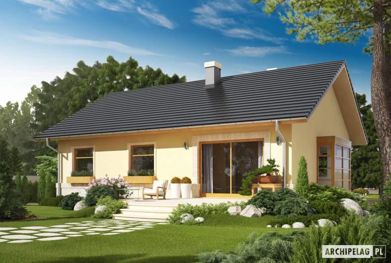 Projekt domu Erin - Projekty domów ARCHIPELAG - Erin - wizualizacja ogrodowa