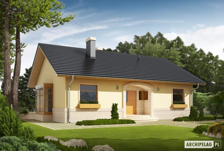 Projekt domu Erin - Projekty domów ARCHIPELAG - Erin - wizualizacja frontowa