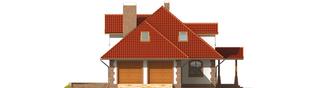 Projekt domu Kiara G2 - elewacja lewa