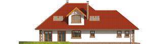 Projekt domu Kiara G2 - elewacja tylna