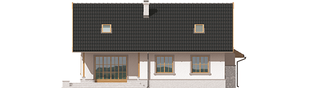 Projekt domu Lote III G2 - elewacja tylna