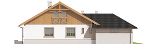Projekt domu Lote III G2 - elewacja lewa