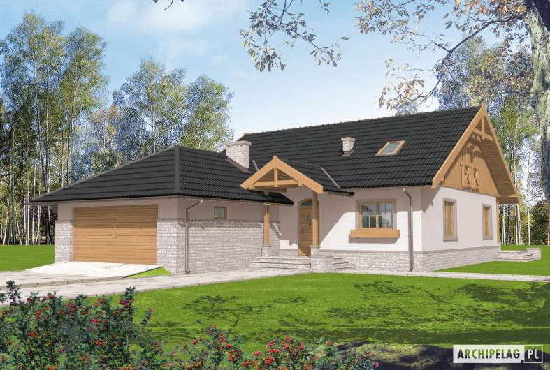 Projekt domu Lote III G2 - wizualizacja frontowa