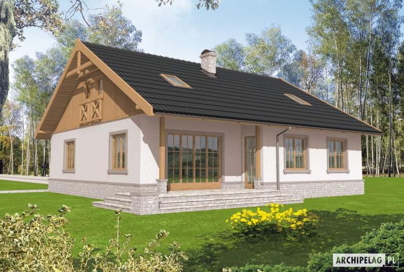 Projekt domu Lote III G2 - wizualizacja ogrodowa