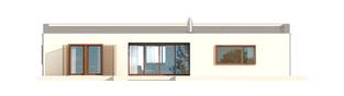 Projekt domu EX 8 G2 (wersja C) ENERGO PLUS - elewacja tylna