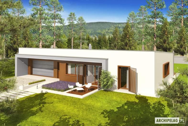 Projekt domu EX 8 G2 (wersja C) - widok z góry