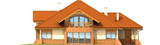 Projekt domu Tadeusz G2 - elewacja tylna