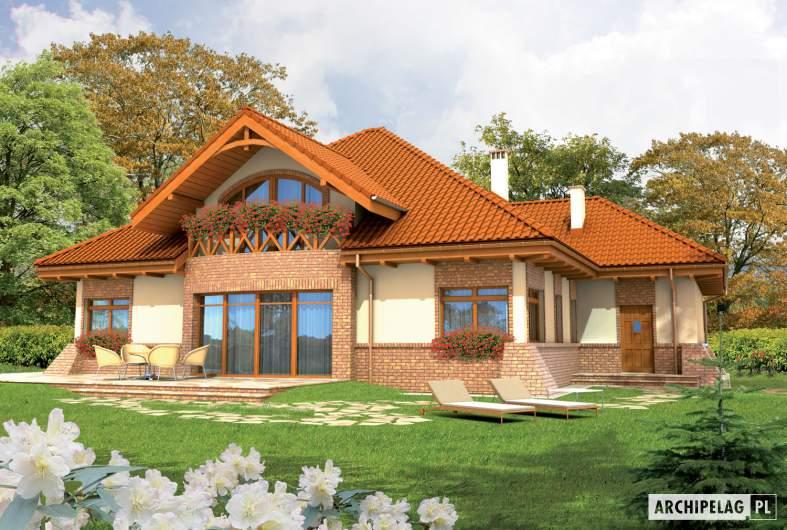 Projekt domu Tadeusz G2 - wizualizacja ogrodowa