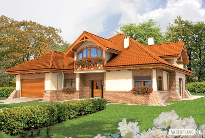 Projekt domu Tadeusz G2 - wizualizacja frontowa