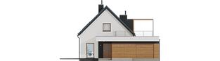 Projekt domu E13 G1 ECONOMIC - elewacja frontowa