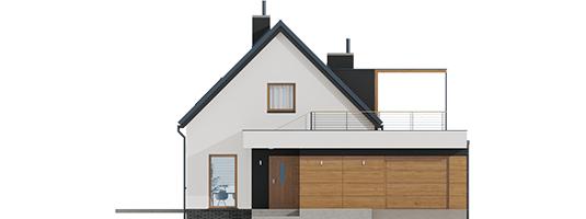 Е13 (Г1, Економ) - Projekt domu E13 G1 ECONOMIC - elewacja frontowa