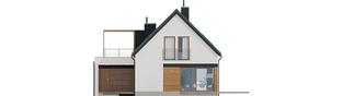Projekt domu E13 G1 ECONOMIC - elewacja tylna