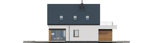 Projekt domu E13 G1 ECONOMIC - elewacja lewa
