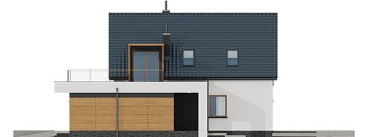 Е13 (Г1, Економ) - Projekt domu E13 G1 ECONOMIC - elewacja prawa