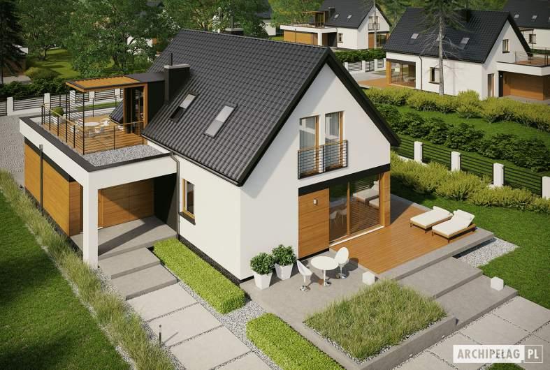 Projekt domu E13 G1 ECONOMIC - widok z góry