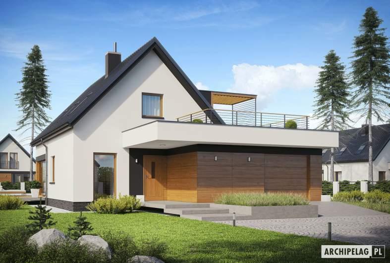 Projekt domu E13 G1 ECONOMIC - wizualizacja frontowa