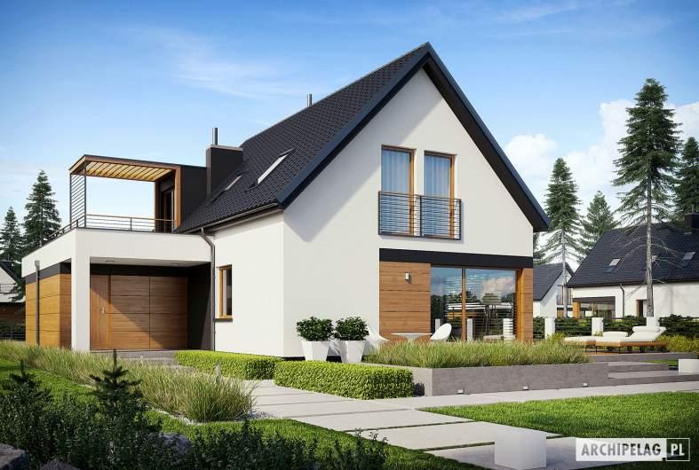 Projekt domu E13 G1 ECONOMIC - wizualizacja ogrodowa