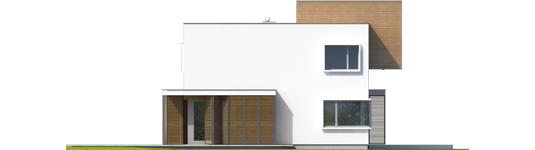 Экси 10 - Projekt domu EX 10 II (z wiatą) soft - elewacja lewa
