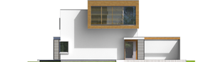 Projekt domu EX 10 II (z wiatą) soft - elewacja frontowa