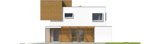 Экси 10 - Projekt domu EX 10 II (z wiatą) soft - elewacja tylna