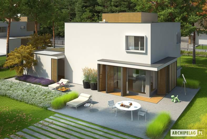 Projekt domu EX 10 II (z wiatą) soft - widok z góry