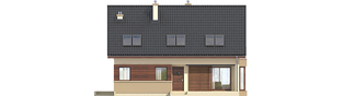 Projekt domu Liv 2 - elewacja frontowa