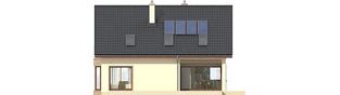 Projekt domu Liv 2 - elewacja tylna