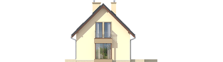 Projekt domu Liv 2 - elewacja prawa