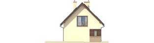 Projekt domu Liv 2 - elewacja lewa