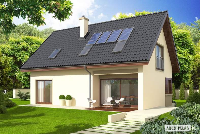 Projekt domu Liv 2 - wizualizacja ogrodowa