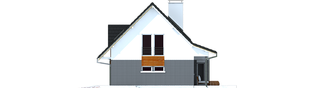 Projekt domu Demi G1 (wersja C) - elewacja prawa