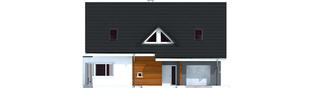 Projekt domu Demi G1 (wersja C) - elewacja frontowa