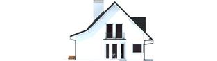 Projekt domu Demi G1 (wersja C) - elewacja lewa