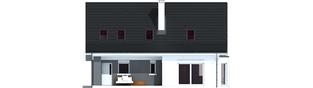 Projekt domu Demi G1 (wersja C) - elewacja tylna