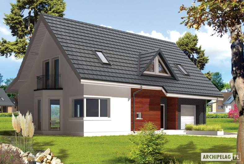Projekt domu Demi G1 (wersja C) - wizualizacja frontowa