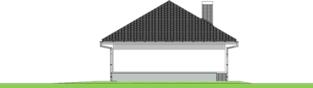 Projekt domu Garaż G25 w. III - elewacja prawa