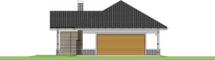 Projekt domu Garaż G25 w. III - elewacja frontowa
