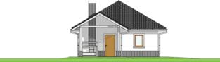 Projekt domu Garaż G25 w. III - elewacja lewa
