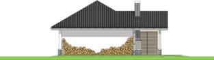 Projekt domu Garaż G25 w. III - elewacja tylna