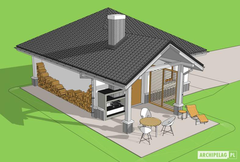 Projekt domu Garaż G25 w. III -