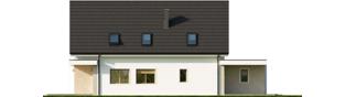 Projekt domu Kosma G2 - elewacja lewa