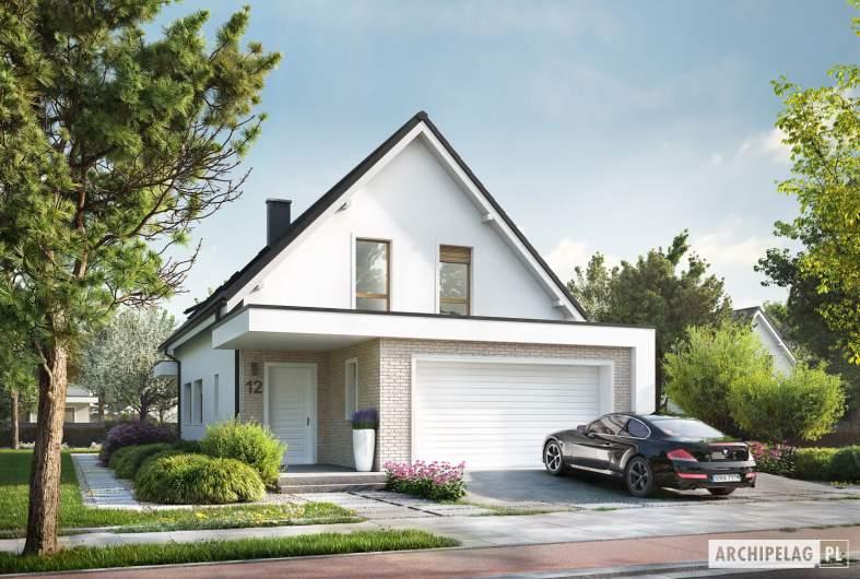 Projekt domu Kosma G2 - wizualizacja frontowa
