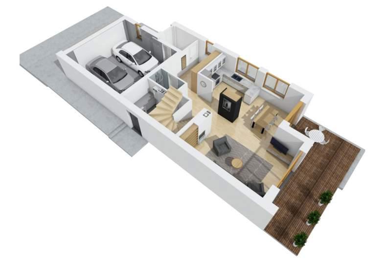 Projekt domu Kosma G2 -