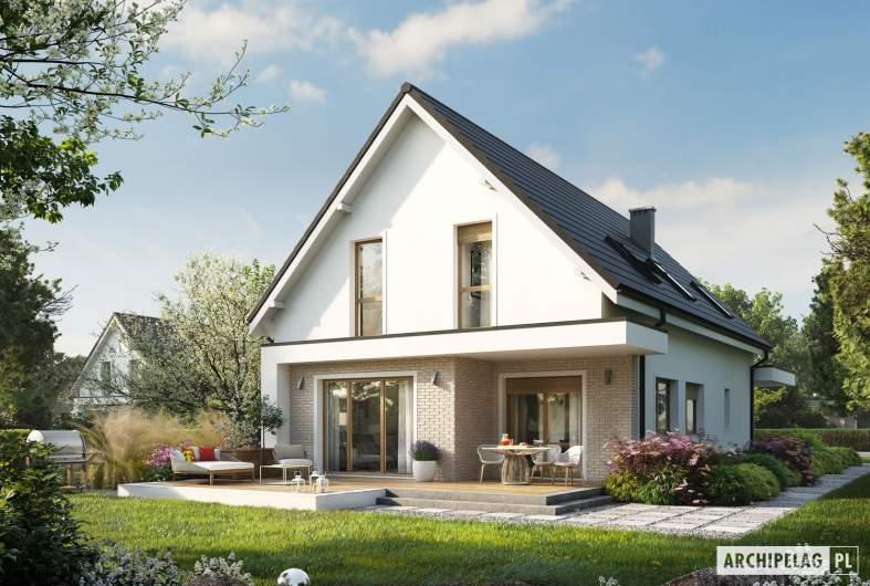 Projekt domu Kosma G2 - wizualizacja ogrodowa