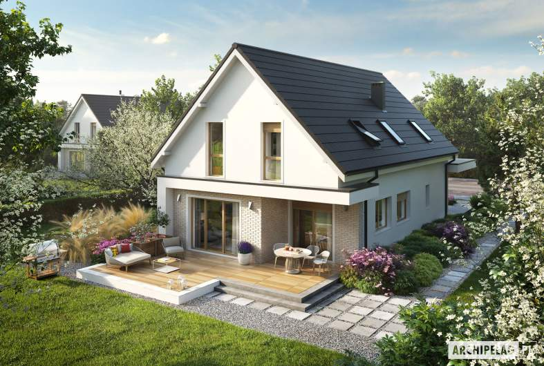 Projekt domu Kosma G2 - widok z góry