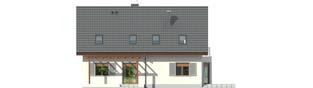 Projekt domu Raul (dwulokalowy) - elewacja tylna