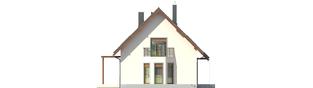 Projekt domu Raul (dwulokalowy) - elewacja lewa