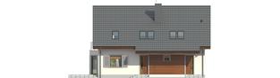 Projekt domu Raul (dwulokalowy) - elewacja frontowa